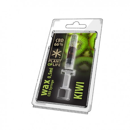 Wax CBD Kiwi 66% 0,5ML Plant of Life
