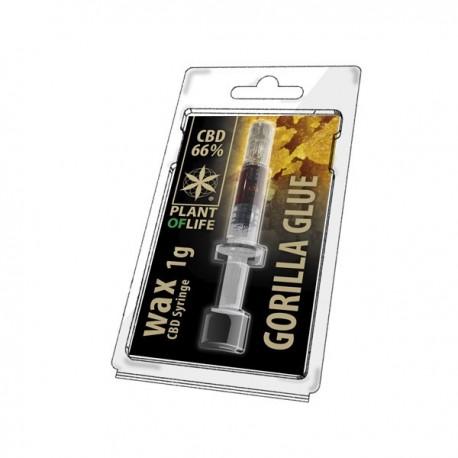 CBD Wax Gorilla Glue 66% 1ML Plant of Life