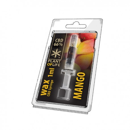 CBD Wax Mango 66% 1ML Plant of Life
